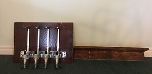 Wall mounted drink dispenser and shelf