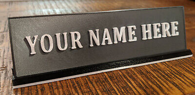 Custom 3d Printed Name Plate For Home Office Desk Video Call Backgrounds
