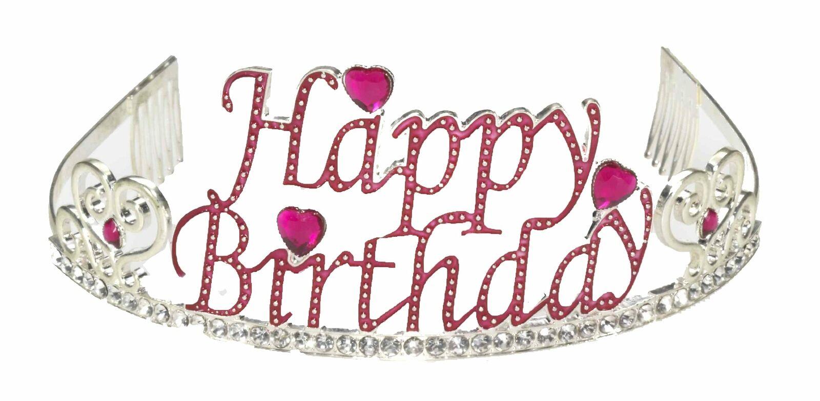 Forum Novelties Rhinestone Encrusted Happy Birthday Tiara with Keepsake Box