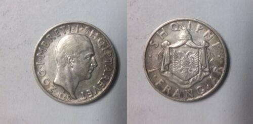 1935 Albania Silver Frang Ar- Nice #3