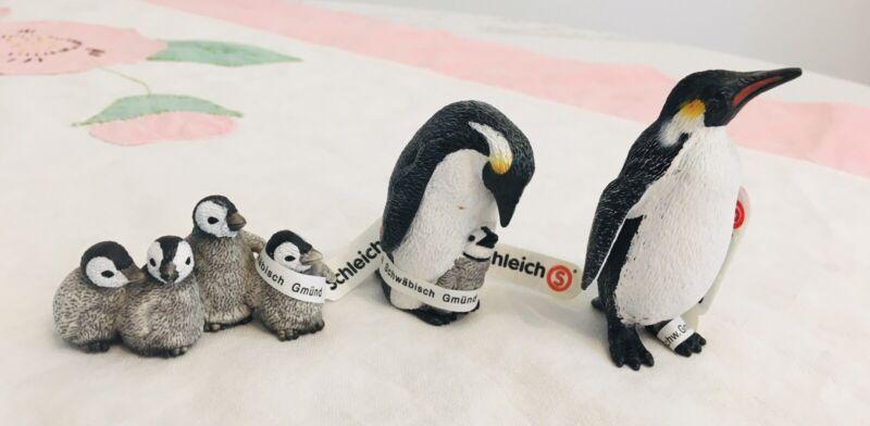 Schleich  EMPEROR PENGUIN FAMILY  #14652 Penguin  #14632 Penguin  #14618 Babies