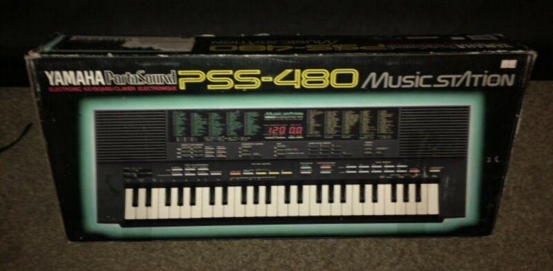 Yamaha PSS-480 Keyboard Sound Station w/ box & manual MIDI Digital Synthesizer