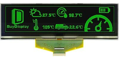 Green 5.5 Inch Graphic Oled Display Panel 256x64 Ssd1322 Parallel Spi Wtutorial