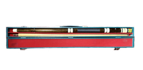 Vintage Riley Elite Pool Snooker 2-piece Cue + Hardcase Box and Chalk 145cm