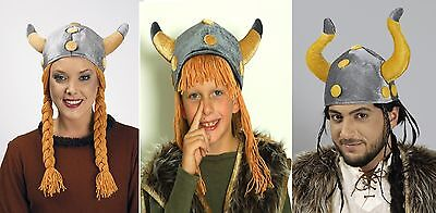 Wikinger Helm Kinder Damen Herren Wikingerhelm Mütze Hut (Kinder Wikinger Helm)