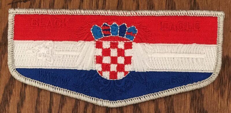 Boy Scout Order Of The Arrow OA Black Eagle Lodge 482 Croatia Flag Flap TAC1