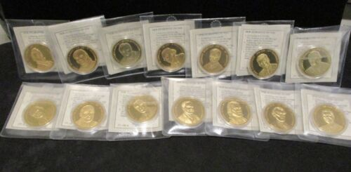 14 Greatest American Presidents 24 kt. Gold Guilded - American Mint with COA