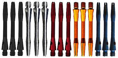 - 5 Sets Short Anodized Aluminum Dart Shafts -1 1/2 In - 15 Shafts Assorted Colors