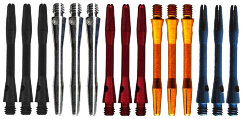 5 New Sets Short Anodized Aluminum Dart Shafts - Ships w/ Tracking - 5 Colors