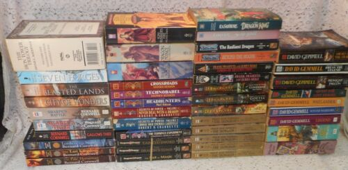Paperback Sci-Fi Fantasy Fiction Book Lot x 81: Many Sets and Trilogies