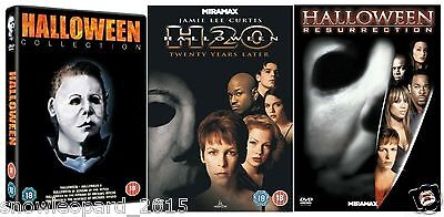 HALLOWEEN Movies Films Complete DVD Collection Part 1+2+3+4+5 H20 RESURRECTION