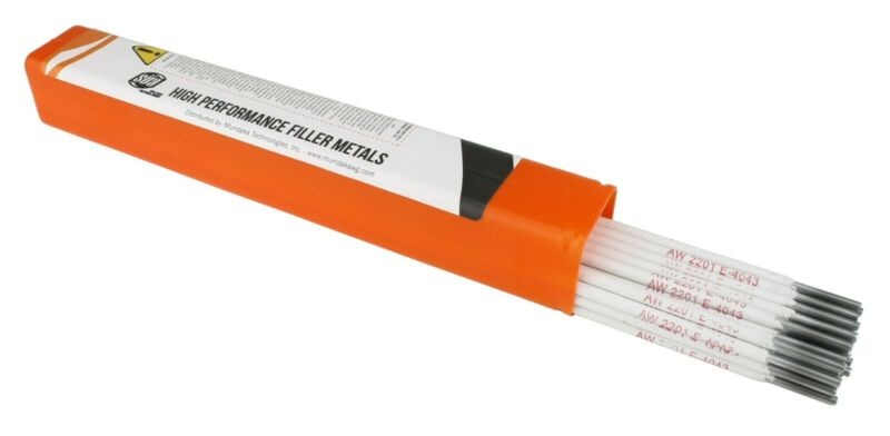 "SÜA - Aluminum E4043 Stick Electrode Rod 1/8"" x 14"" - (1 Lb)"