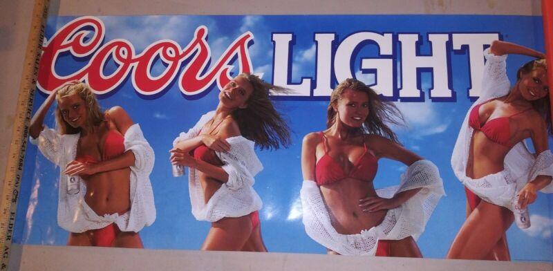 Vintage Coors Light 4 Girls 18×40 Promo Poster