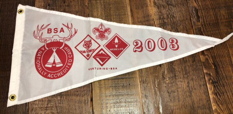 Boy Scout National Camp Accredited Banner 2003