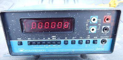 Data Precision 3600 Multimeter 105-125210-250vac 50-400hz