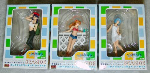 NEW Evangelion Seaside Figure Collection Complete set of 3 REI, ASUKA, MISATO