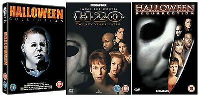 HALLOWEEN - Part 1 2 3 4 5 Complete Collection H20 Resurrection New Region 2 DVD