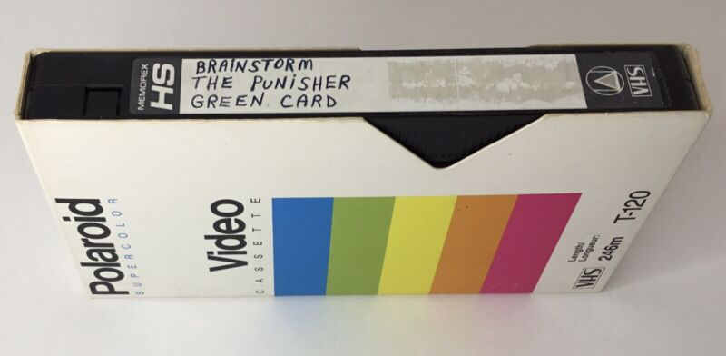 VHS Tape Sold As Blank - 1991 Viewers Choice Movies Commercials