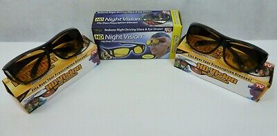 Lot 3 As Seen TV HD Vision Driving Glasses Wrap Around Sunglasses Anti Glare UA for sale  Shipping to India