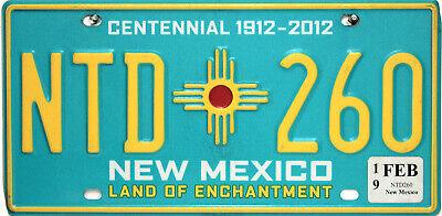 New Mexico  License Plate,  Original Nummernschild USA  NTD 260 ORIGINALBILD