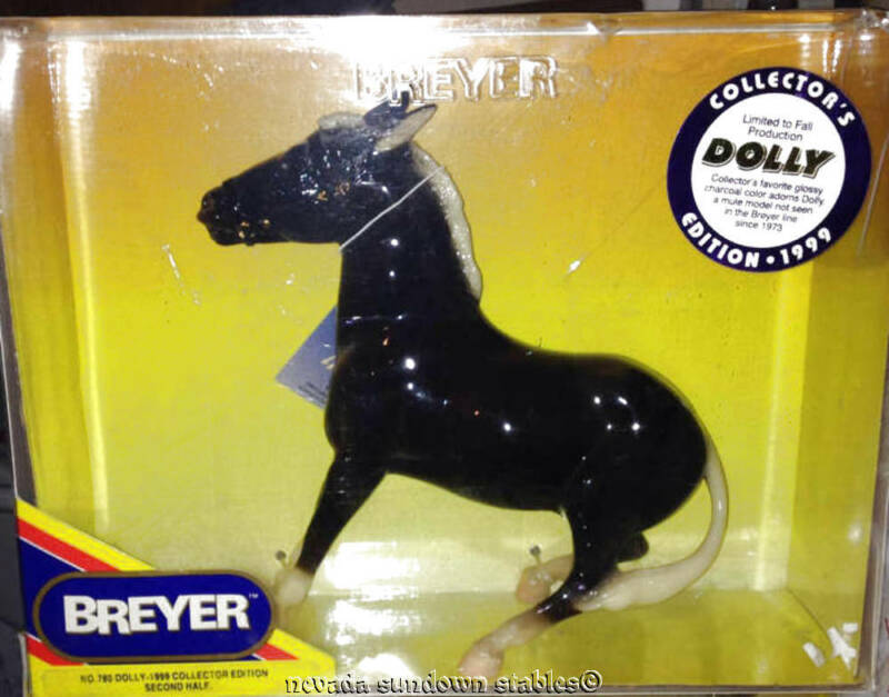 Breyer Creations Glossy Collectors Edition Charcoal Balking Mule Dolly