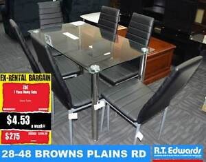 Zoe 7 Piece Dining Suite with Glass Table Browns Plains Logan Area Preview