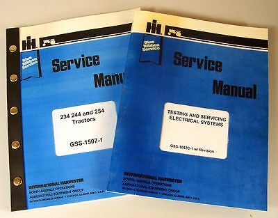 Lot International 234 244 254 Tractor Service Manual Repair Shop Ih Technical