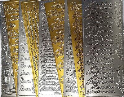 wunsch Geburtstag Wünsche Herzlichen Glückwunsch silber gold (Silber Bögen)