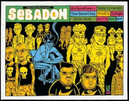 Ward Sutton - 1996 - Sebadoh Concert Poster W/ Pavement