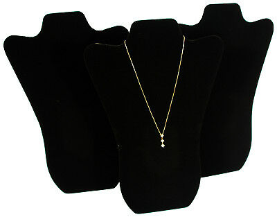 3 Black Velvet Pendant Necklace Jewelry Display 14