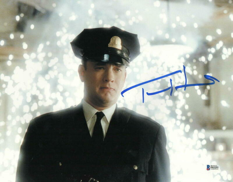 TOM HANKS SIGNED 11X14 PHOTO THE GREEN MILE AUTHENTIC AUTOGRAPH BECKETT COA