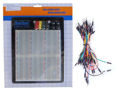 Tektrum Solderless 2200 Tie-points Experiment Plug-in Breadboard Kit With Wires