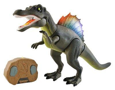 Interaktives Dinosaurier funkferngesteuert Geräusche Licht Fernbedienung #5958