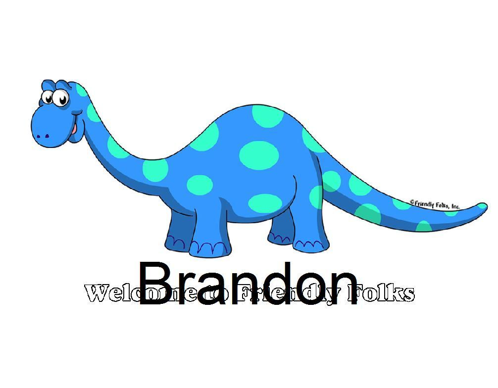 Small Personalized Dinosaur Picture - Makes A Great Gift  - $8.50