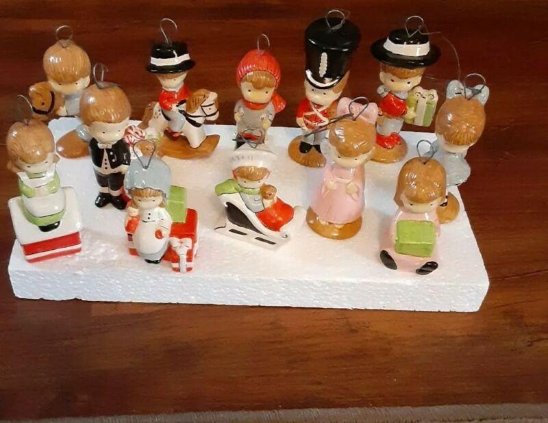 Lot of 12  Vintage Christmas Ornaments handmade  MINT