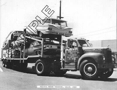 Used, MACK B-61 CAR HAULER w/5 New 1960 CHEVROLET Cars, SOUTHERN PACIFIC 8x10 Photo  for sale  Shipping to Canada