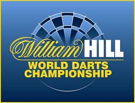 William Hill World Championship Darts at Ally Pally Thursday 15th dec (6 table seats) all on 1 table