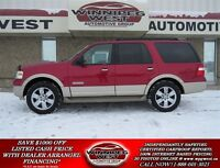 2008 Ford Expedition Lazer Red Eddie Bauer 4x4, DVD, Sunroof, Le