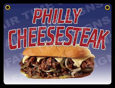 Philly Steak Sign-concession Trailer Stand Restaurant 12 X 17 Pvc