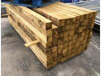 🐝 2.4m ~ Wooden/ Timber Pressure Treated Posts ~ New