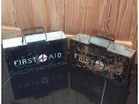 Vintage 1950's Military First Aid Boxes