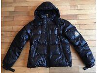 Men's Moncler Down Jacket - Detachable Hood - Black - Large.