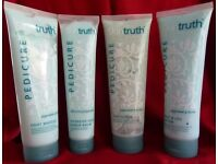 Pedicure collection, Foot Scrub, Foot Masque, Foot & Leg Lotion & Intensive heel repair balm.
