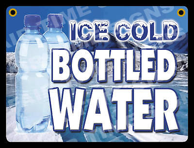Bottled Water Sign-concession Trailerstand Restaurant 12 X 17 Pvc