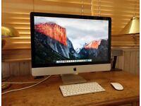 Apple iMac 27inch, 3.1Ghz, Intel Core i5, 8GB RAM, 1TB Hard drive, (Mid 2011) £450