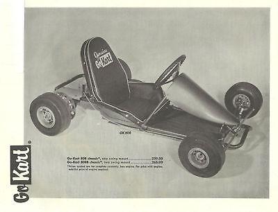 Vintage 1960S Go Kart 808 Ad   Parts List 3 Pages