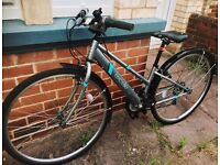 """Ladies Apollo Excelle 17"""" hybrid bike - hardly used since purchase, excellent condition"""