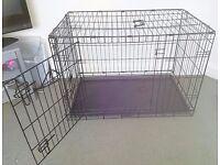 Dog crate, 2 door for medium/large dog