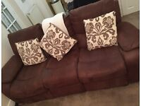 3 Seater & 2 Seater Reclining Sofas (Brushed Finish)