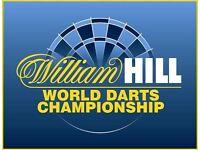 William Hill World Championship Darts at Ally Pally Thursday 22nd Dec (4 rear tier seats)